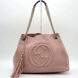 Authentic Gucci Soho on Chain Leather Shoulder Bag